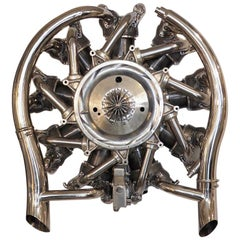 "Airplane Radial Engine Sculpture Nine Cylinder ""R-985 Wasp Jr"""