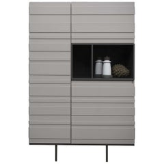 Stripe Light Gray Cupboard by Pierangelo Sciuto