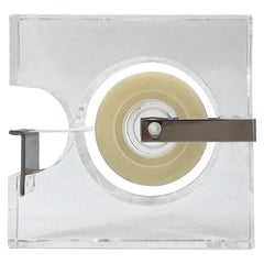 1970s Lucite Tape Dispenser by Two's Company for Serge Mansau Paris MOMA Design