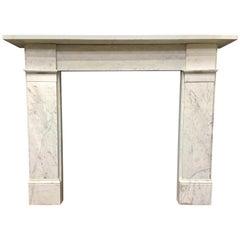 Antique Victorian Carrara Marble Fireplace Surround