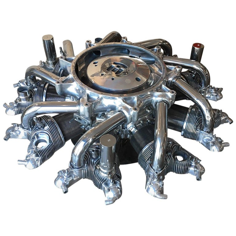 Aircraft Coffee Table Radial Engine Pratt & Whitney ''R-985 Wasp Jr''