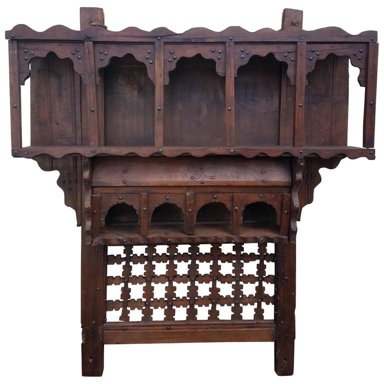 Moroccan Reclaimed Wood Wall Shelf Ben 1 For
