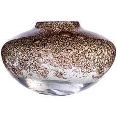 Murano Glass and Brass Vase Handmade in Murano by Stories of Italy