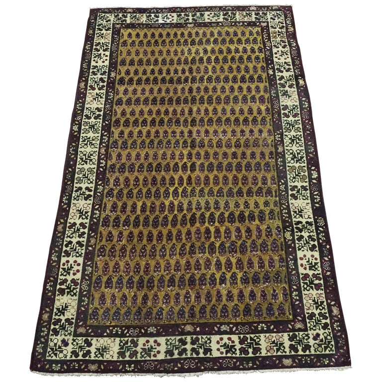 Antique Rug Circa 1900. Agra From India With Design Of