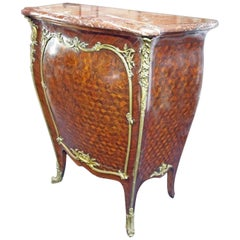 Francois Linke Louis XV Style Ormolu Mounted Kingwood & Parquetry Mueble d'appui