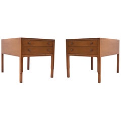 By Mount Airy Furniture Company Negotiable Clic Pair Of Mahogany Bedside Tables John Stuart United States 1960s