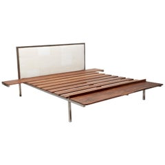 Customizable Bed Frame with Side Tables and Bench