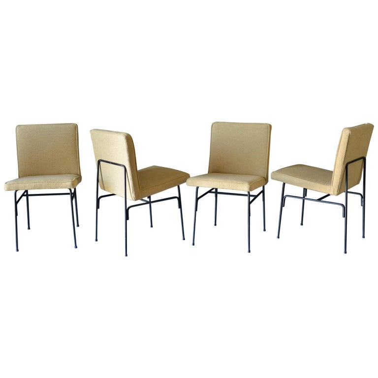 Set of Four Iron Dining Chairs by Allan Gould, circa 1955