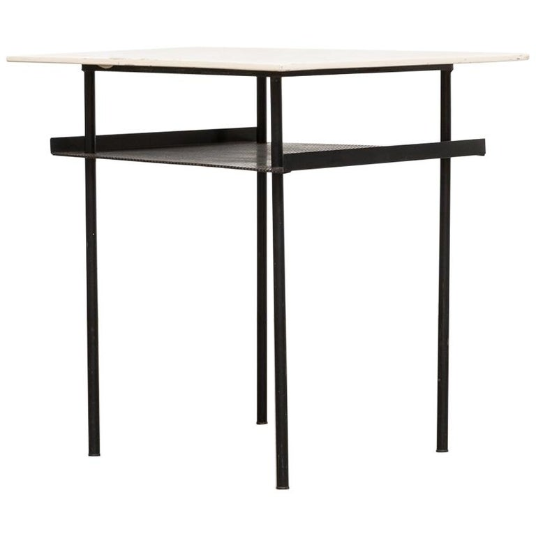 Rare Wim Rietveld for Auping Industrial Side Table For Sale