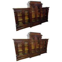 19th Century Monumental Herter Brothers Bookcase Pair