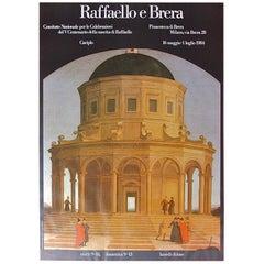 Original Exhibition Poster Raffaello e Brera, Italy, 1984