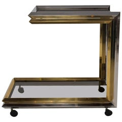Chrome and Brass Bar Cart