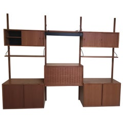 Gorgeous Danish Teak Cado Three Bay Wall Unit by Poul Cadovius