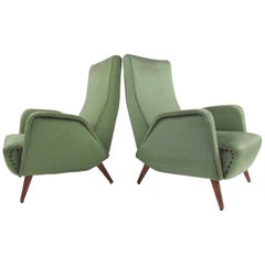 Pair of Italian Moderne Lounge Chairs after Marco Zanuso
