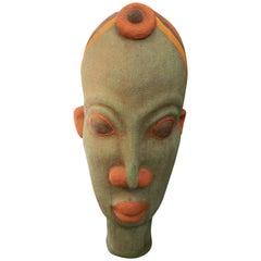 Terracotta Beaded Bamileke Head