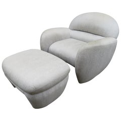 Lovely Vladimir Kagan for Preview Lounge Chair Ottoman Mid-Century Modern