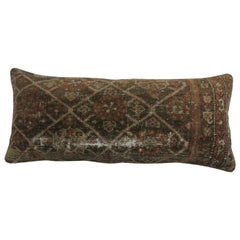 Shabby Antique Persian Bolster Rug Pillow