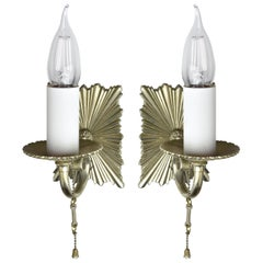 Silver Plated 'Caldwell' Sconce, Pair