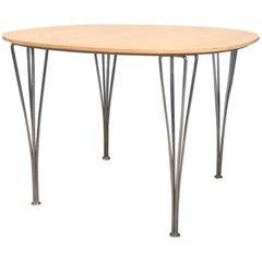 Vintage Super-Circular Dining Table by Piet Hein & Bruno Mathsson, Fritz Hansen