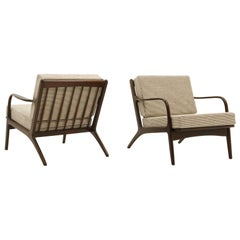 Pair Kofod-Larsen Danish Modern Lounge Chairs, Restored. PRICE IS FOR THE PAIR.