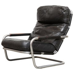 "Jan des Bouvrie Leather Lounge S""601"" Chair for Gelderland"