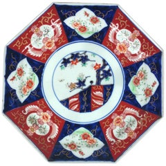 19th Century Octagonal Japanese Pottery Dish