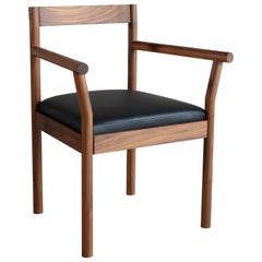 Feast Armchair, Solid Wood and Brass
