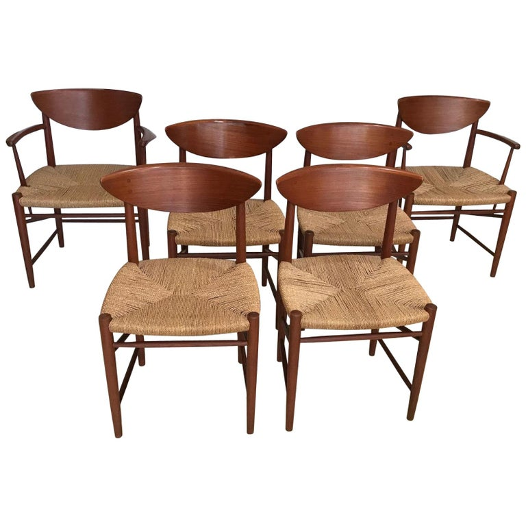 Set of Six Dining Chairs by Peter Hvidt & Orla Molgaard Neilson