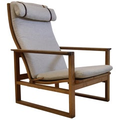 Midcentury Oak Lounge Chair by Børge Mogensen