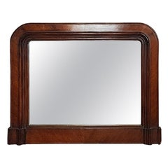 19th Century Italian Walnut Wall Mirror, 1850s