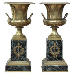 Pair of French Empire Bronze and Marble, circa 1810