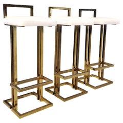 Brass Bar Stools, Maison Jansen