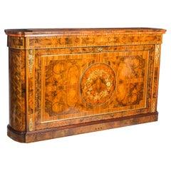 Bespoke Inlaid Burr Walnut & Marquetry TV Plasma Lift Cabinet