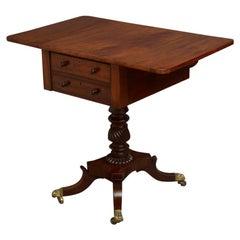 Elegant Regency Drop Leaf Mahogany Table