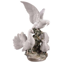 Lladro Porcelain Doves