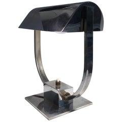 Art Deco Modernist Desk Table Lamp in the Taste of Jacques Adnet