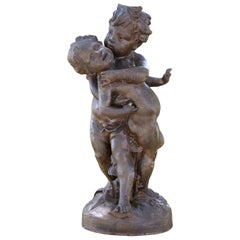 19th Century, Group of Love Intertwined Cast Iron