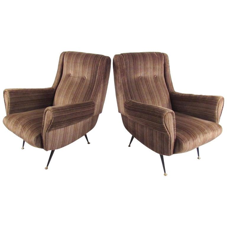Italian Modern Club Chairs after Gigi Radice, circa 1950s, Italy
