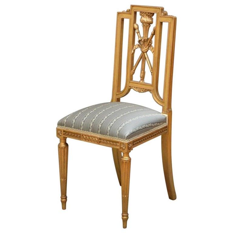 Wonderful French Gilt Chair, Side Chair