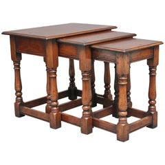 Mid-20th Century Cherry Wood Nest of Tables
