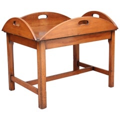 Yew Wood Butlers Tray on Stand
