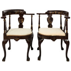 Pair of Chinoiserie Corner Chairs