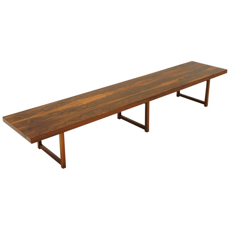 Rosewood Bench or Coffee Table by Milo Baughman