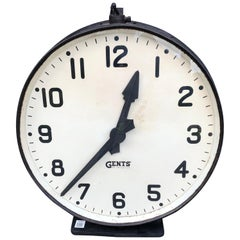 Industrial Factory Clock, Gents of Leicester, circa 1920