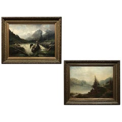 Pair of 19th Century Framed Oil Paintings on Canvas by Regnier