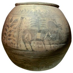 Indus Valley Red-Painted Pottery Vessel, circa 2300-2000 BC