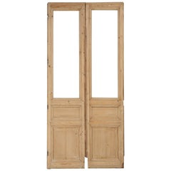 Pair of Antique French Pine Doors