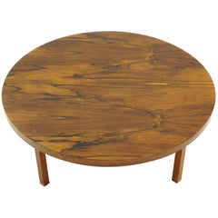 Round Rosewood Coffee Table by Milo Baughman, Excellent Condition