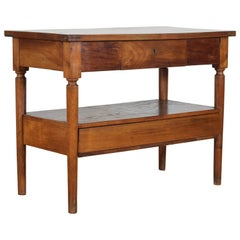 French Louis Philippe Period Cherrywood 2-Drawer Side Table