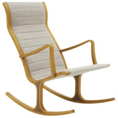 Modern Rocking Heron Chair by Tendo Mokko, Japan, Excellent Condition
